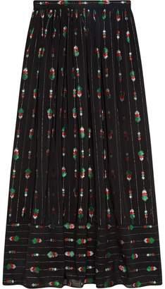 Gucci Silk maxi skirt with fil coupé