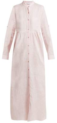 Gioia Bini Emma Linen Shirtdress - Womens - Light Pink