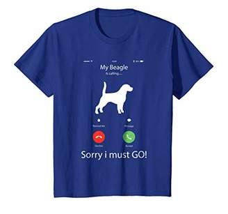 My Beagle is calling Funny Beagle T-Shirt