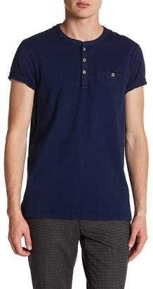Ted Baker Laundered Short Sleeve Henley T-Shirt