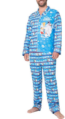 Asstd National Brand Frosty The Snowman Family Pajama Set- Men's