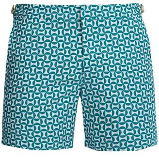 Orlebar Brown Bulldog X Salin Jacquard Swim Shorts - Mens - Blue