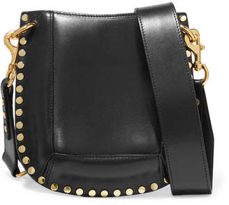 Isabel Marant Nasko Studded Leather Shoulder Bag - Black