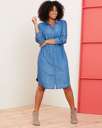 b0c681f6756ab Capsule Soft Tencel Denim Smock Shirt Dress