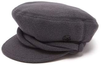 Maison Michel New Abby Wool Cap - Womens - Grey