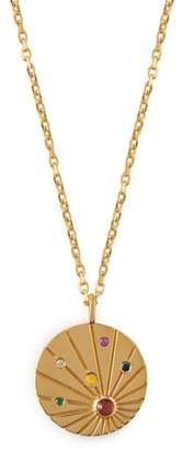 Theodora Warre - Gold Plated Sterling Silver Pendant Necklace - Womens - Multi