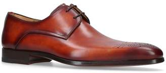 Magnanni Leather Punch Toe Derby Shoes