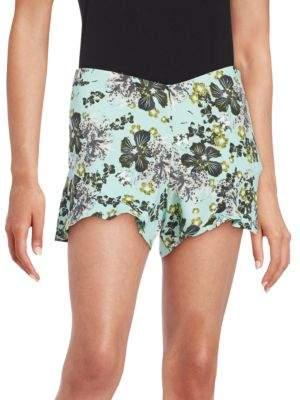 Free People Floral Flutter Shorts