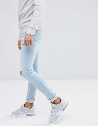 Hoxton Denim Super Skinny Ice Wash Jeans