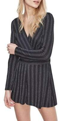 Miss Selfridge Stripe Long-Sleeve Romper