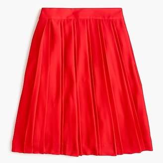 J.Crew Double-pleated midi skirt