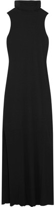 Splendid - Luxe Stretch Micro Modal And Cashmere-blend Maxi Dress - Black $230 thestylecure.com