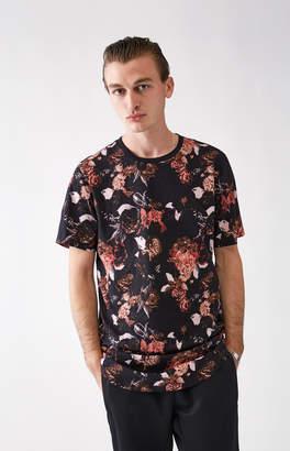 adidas Pacsun Roan Floral Scallop T-Shirt