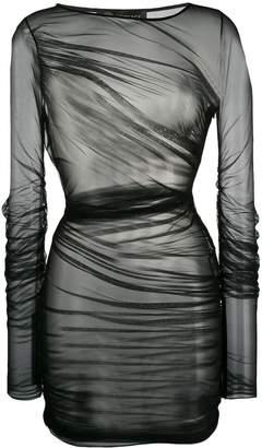 Versace sheer draped dress