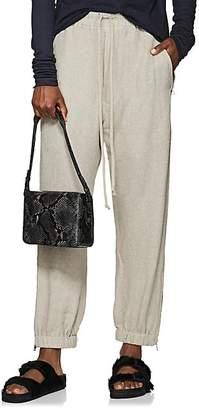 Rick Owens Women's Textured-Knit Drawstring Track Pants - Pearl