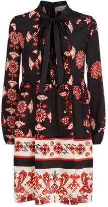 RED Valentino Pixelated Floral Print Dress