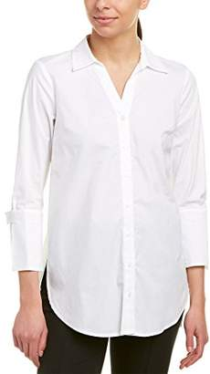 Jones New York Women's Poplin 3/4 SLV Flare Cuff Bttn Up Tunic
