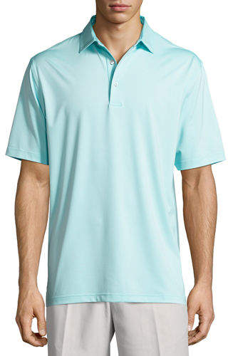Peter Millar Crown Sport Solid Stretch Jersey Polo Shirt
