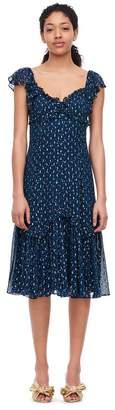 Rebecca Taylor Speckled Dot Metallic Clip Dress