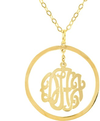 24K Gold-Plated Sterling Personalized Chandelier Pendant