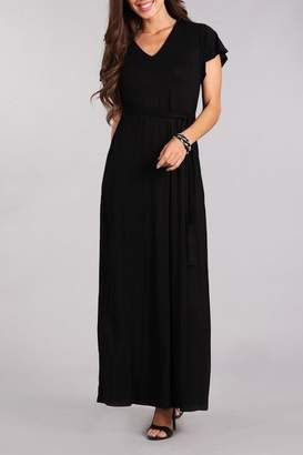 Chris & Carol Black Maxi Dress