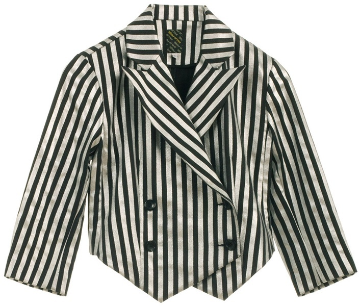 LABOUR OF LOVE - Striped cotton Clown blazer