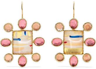 Larkspur & Hawk - Cora Cushion 14-karat Gold Quartz Earrings
