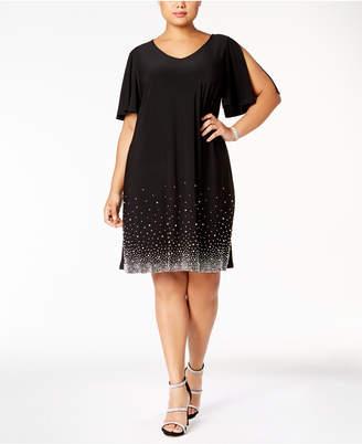 MSK Plus Size Beaded Shift Dress