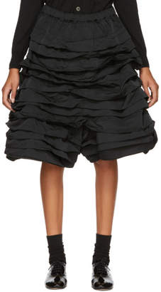 Comme des Garcons Black Layered Ruffled Shorts