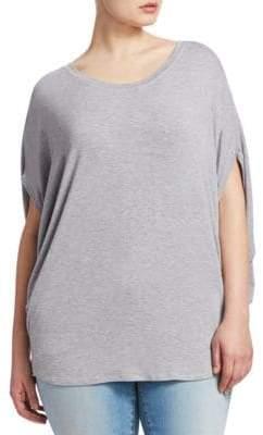 Slink Jeans, Plus Size Plus Heathered Scoopneck Top