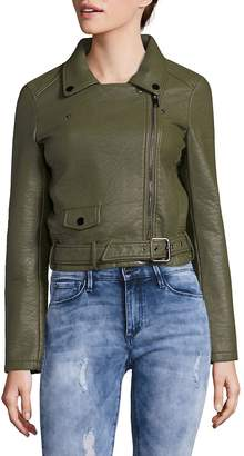 Joe's Jeans Women's Zip Faux Leather Moto Jacket