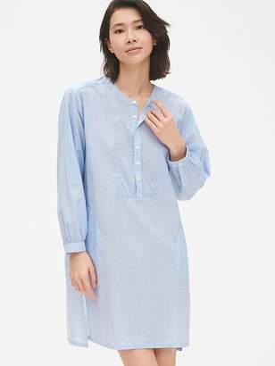 Gap Dreamwell Stripe Bib-Front Shirtdress