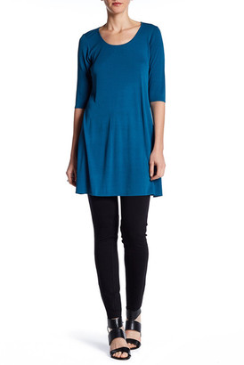Eileen Fisher Scoop Neck Silk Tunic $178 thestylecure.com