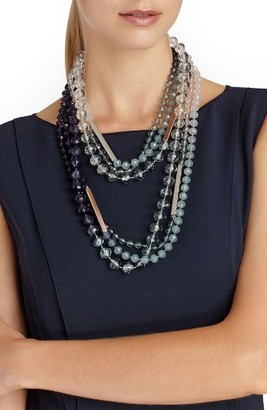 Women's Lafayette 148 New York Ombre Bead Necklace $298 thestylecure.com
