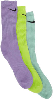 Nike ERL Three-Pack Edition Multicolor Logo Socks