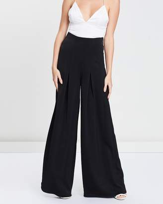 Missguided Pleated Wide-Leg Trousers