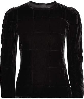 Isabel Marant Tuline Quilted Velvet Top - Black