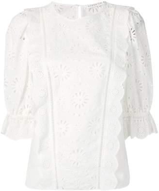 Veronica Beard lace panel blouse