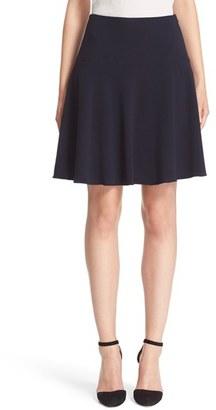 Women's Armani Collezioni Stretch Wool Flutter Skirt $595 thestylecure.com