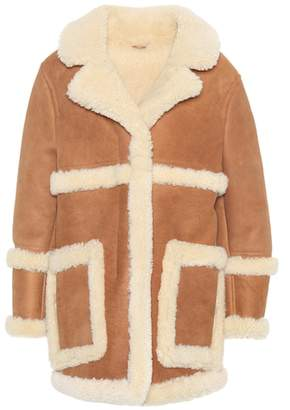 Acne Studios Lody leather and shearling coat