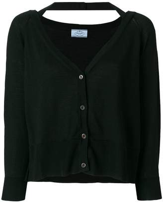 Prada cropped v-neck cardigan