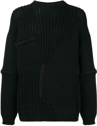 Oamc panelled knit jumper
