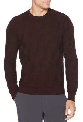 Perry Ellis Regular Fit Textured Pattern Sweater