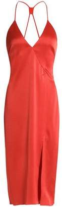 Halston Satin-Crepe Dress