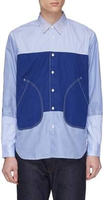 Comme des Garcons Homme Mix pattern patchwork shirt