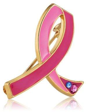 Estee Lauder Commemorative 25th Anniversary Breast Cancer Awareness Pink Ribbon Pin Limited Edition