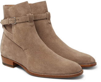 Saint Laurent Suede Jodhpur Boots - Tan