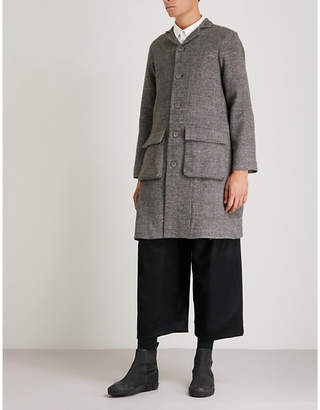 Toogood Patch-pocket linen-blend coat
