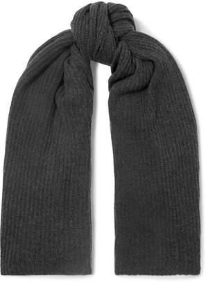 Madeleine Thompson Dacre Ribbed Cashmere Wrap - Dark gray
