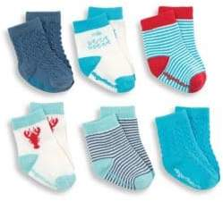 Elegant Baby Baby's Six-Piece Nautical Sock Set